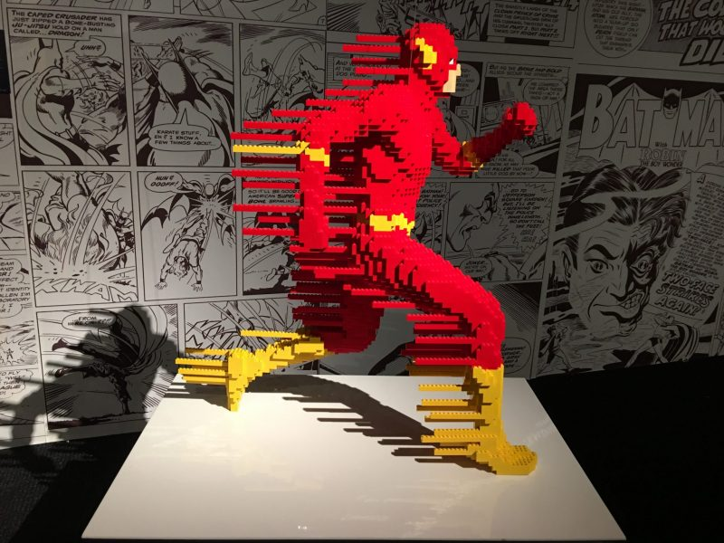 Interview with Nathan Sawaya at The Art of the brick dc superheroes